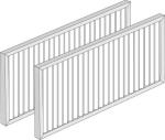 Filterset Abluft M5/Zuluft F7 für Wohnungslüftungsgerät 351WAC001 (1 Stück = 1 VPE mit 2 Filtern)