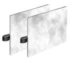 Filterset Zu-und Abluft für 430WAC bzw. Kinetic Plus / PL-400-VA Profi Line G3/G3 (1 Stück = 1 Set mit 2 Filtern)